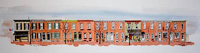 Painting - A Bit Of Scott Street  7x30 by William Renzulli