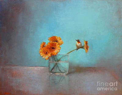 Rufous Wall Art - Painting - A Bit Of Summer by Lori  McNee