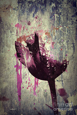 Digital Art - A Bit Of Tulip by Jutta Maria Pusl
