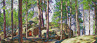 Digital Art - A Black Hills Grove by Dave Luebbert