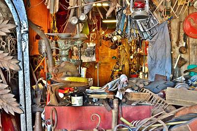Photograph - A Blacksmith's Office by Kim Bemis