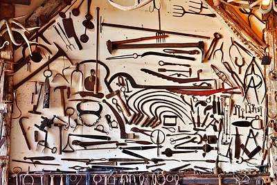 Photograph - A Blacksmith's Tools by Kim Bemis