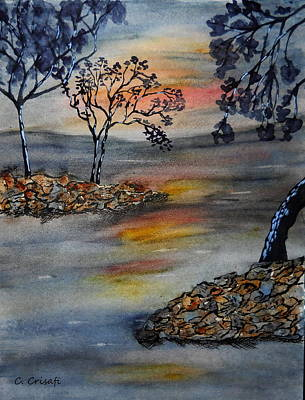 Painting - A Blissful Evening by Carol Crisafi