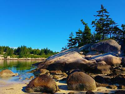 Photograph - A Blissful Maine Moment by Polly Castor