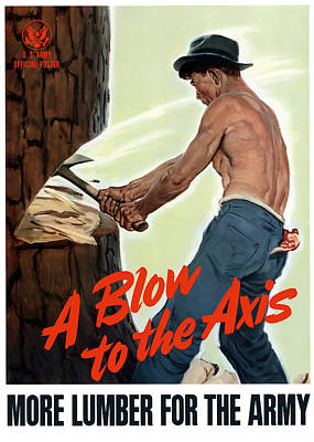 A Blow To The Axis - Ww2 Art Print