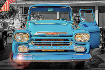 Photograph - A Blue Chevy In The Sun by Guy Whiteley