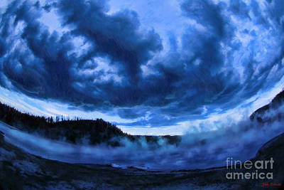 Photograph - A Blue Exceisior Geyser by Blake Richards