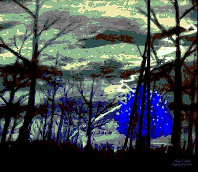 Thunder Painting - A Blue Stormy Mood by Larry E