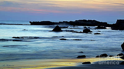 Photograph - A Blue Sunset At Tantura Beach 02 by Arik Baltinester