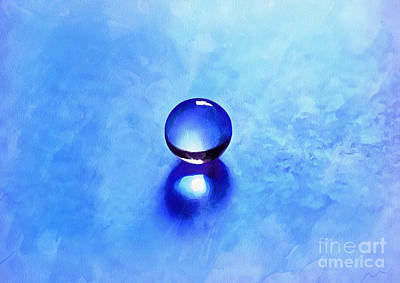 Blue Glass Photograph - A Blue Universe by Krissy Katsimbras