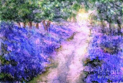 Painting - A Bluebell Carpet by Hazel Holland