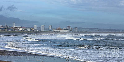 Photograph - A Blustery Day At The Beach  by Liz Alderdice
