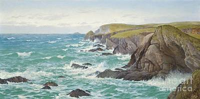 Vale Painting - A Blustery Day Off The Cornish Coast by Celestial Images