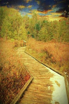 Photograph - A Boardwalk That Can Represent Our Lifes Journey. by Rusty R Smith