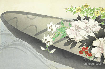 Painting - A Boat Filled With Flowers by Kamisaka Sekka