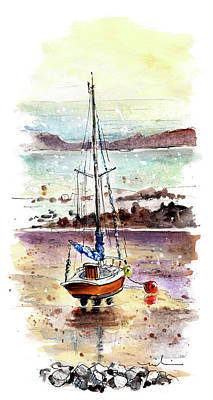 Painting - A Boat On Anglesey 01 by Miki De Goodaboom