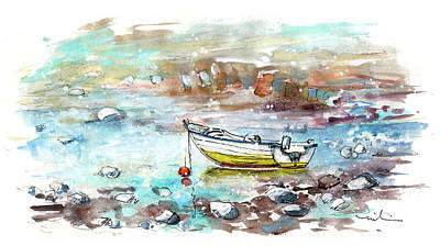 Painting - A Boat On Anglesey 02 by Miki De Goodaboom