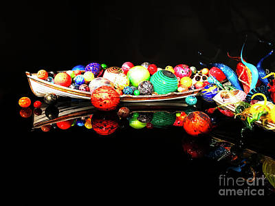 Photograph - A Boatload Of Chihuli by Rick Locke