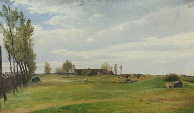 Painting - A Bornholmish Paddock by Otto Haslund