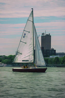Photograph - A Boston View Sailboat by Roberta Byram