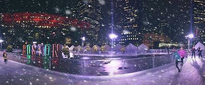 Photograph - A Boston Winter - City Hall Plaza by Joann Vitali