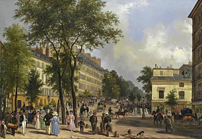 A Boulevard In Paris Art Print by Giuseppe Canella