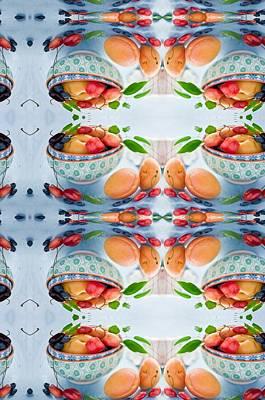 Digital Art - A Bowl Of Fruit Art  by Sheila Mcdonald