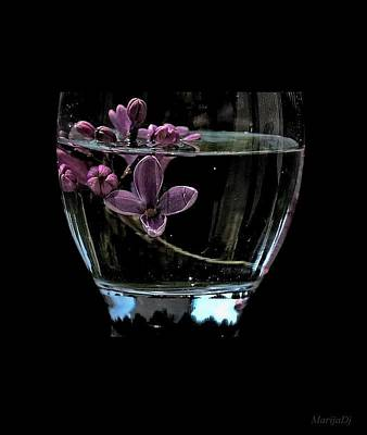 A Bowl Of Lilacs Art Print