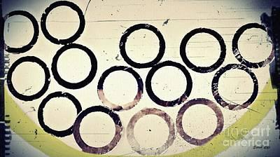 Digital Art - A Bowl Of Old Circles by Sarah Loft