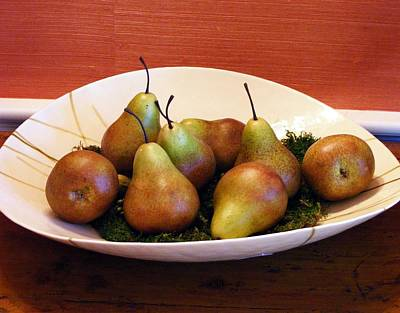 Photograph - A Bowl Of Red Pears by Margie Avellino
