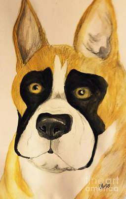 Painting - A Boxer Portrait by Maria Urso