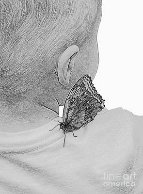 Photograph - A Boy And A Butterfly by Cindy Manero