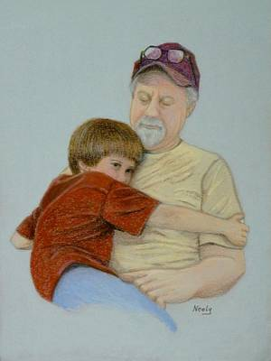 A Boy And His Dad Art Print by Pat Neely