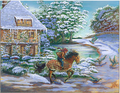 Painting - A Boy And His Horse by Brenda Griffin