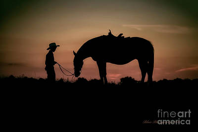 Photograph - A Boy And His Horse by Linda Blair