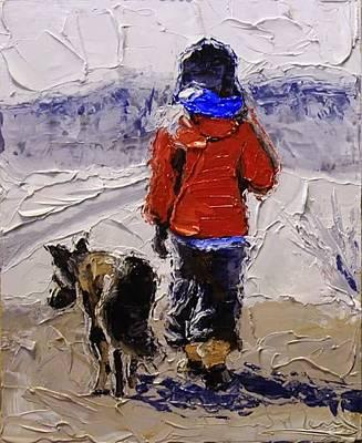 A Boy And His Shepherd. Original by DR van der Merwe