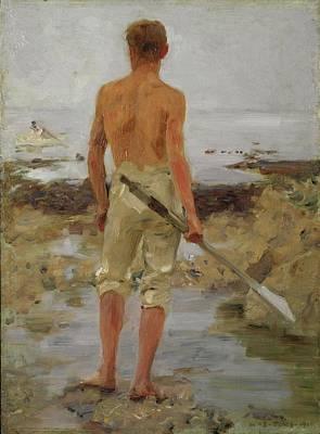 A Boy With An Oar Original by Henry Scott Tuke