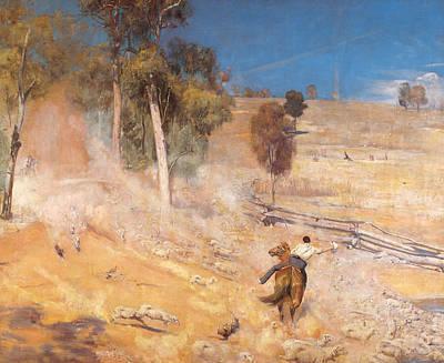 Australian Landscape Painting - A Break Away by Tom Roberts