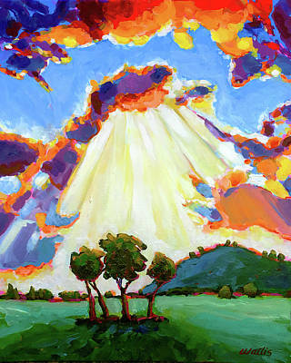 Wall Art - Painting - A Break In The Clouds by Charles Wallis