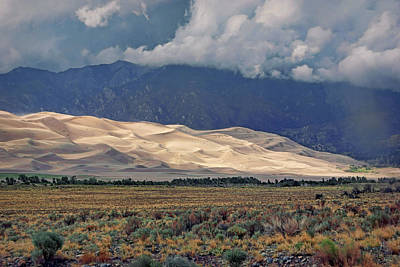 Photograph - A Break In The Clouds - Great Sand Dunes by Nikolyn McDonald