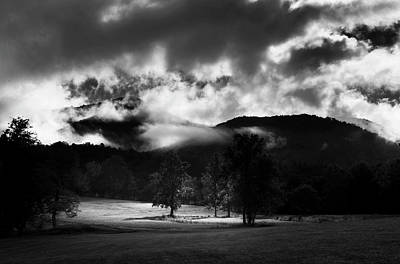 Rain Photograph - A Break In The Clouds In Black And White by Greg Mimbs