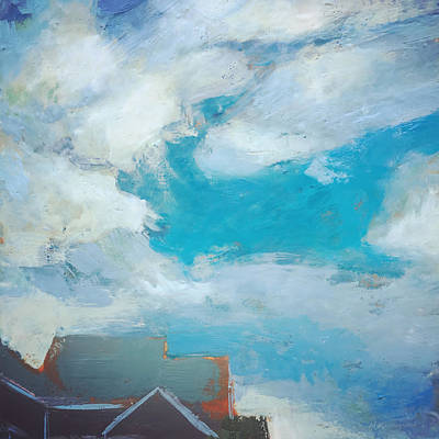 Encaustic Painting - A Break In The Clouds by Marc Kundmann