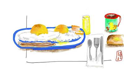 Digital Art - A Breakfast From Years Ago by Debbi Saccomanno Chan