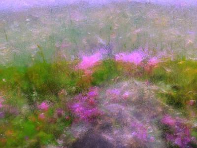 A Breeze In Monet's Garden Art Print