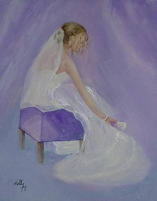 Painting - A Brides Soft Touch by Kelly Mills