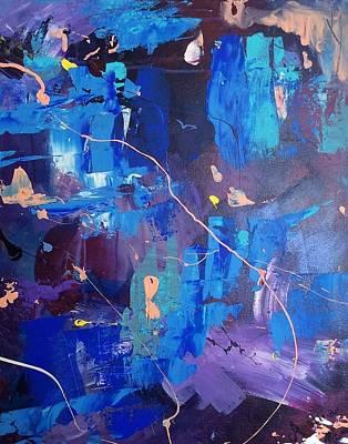 Positive Concept Painting - A Bridge Between Rainbows by Mahlia Amatina