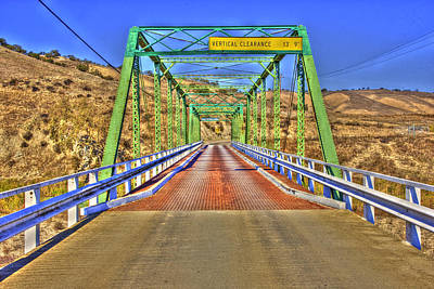 Photograph - A Bridge In Bradley Hdr by Richard J Cassato