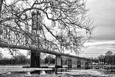Nj Photograph - A Bridge In Winter by Olivier Le Queinec