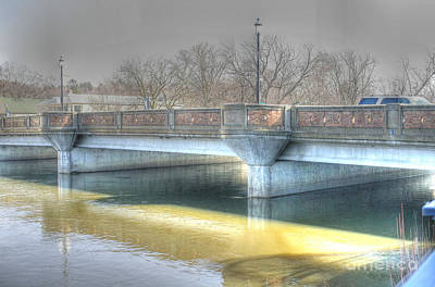 Fox River Photograph - A Bridge On The Fox by David Bearden