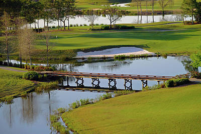 Photograph - A Bridge On The Golf Course Of The Shingle Creek Golf Club In Orlando Florida by Richard Rosenshein